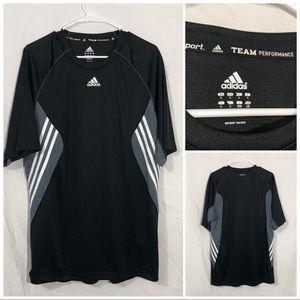 Adidas team performance shirt size large